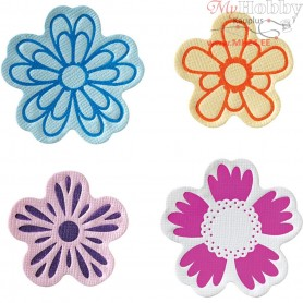 FuseĀ® -Design Press / Letterpress, size 5-6,5 cm, Flower, 4mixed