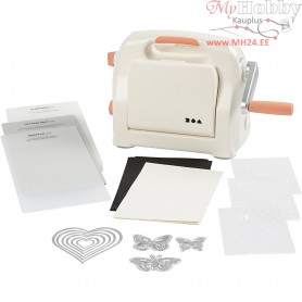 Starter kit - Die Cut and Embossing Machine, A5 15,5x21 cm, sheet max 15.5 cm width, 1set