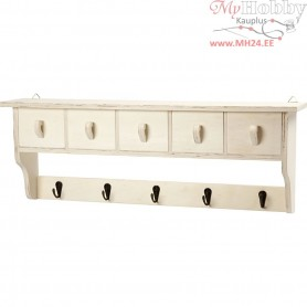 Coat Rack,  60x10 cm, H: 21,5 cm, plywood, 1pc