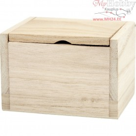 Box, size 10x8,2x6,7 cm, inner size 8,5x6,5x6,5 cm, empress wood, 1pc