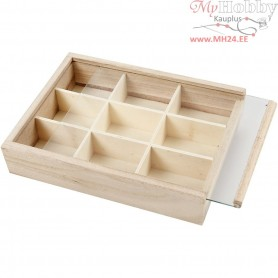 House-Shaped Shelving System, size 17x13 cm, depth 3,5 cm, empress wood, 1pc