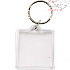 Key Rings, Square, size 40x40 mm, 25pcs