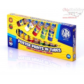 Poster paints ASTRA 12 colors - 30 ml tubes