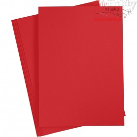 Card, A4 210x297 mm,  180 g, christmas red, 20sheets