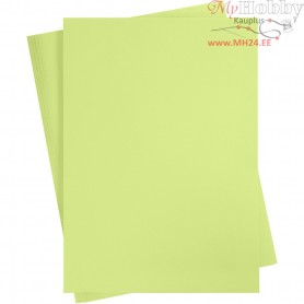 Card, A2 420x600 mm,  180 g, lime green, 10sheets