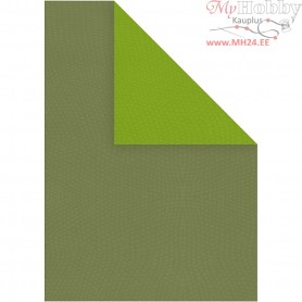 Card, A4 210x297 mm,  250 g, lime green/dark green, 10sheets