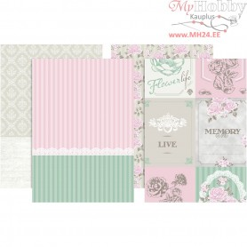 Decoupage Paper, sheet 25x35 cm,  17 g, 8asstd. sheets