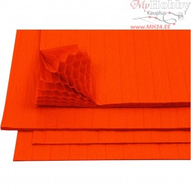 Honeycomb paper, sheet 28x17,8 cm, orange, 8sheets