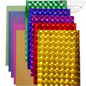 Deco Foil - Assortment, W: 35 cm, thickness 30+110 micron, asstd colours, 10x2m