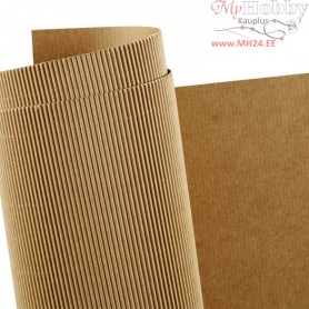 Corrugated Card, sheet 50x70 cm, weight 120 g, 10sheets