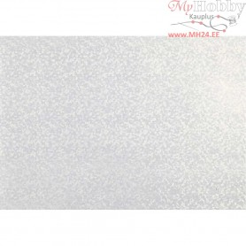 Pearlescent Paper, A4 210x297 mm,  120 g, white - mother-of-pearl, snowflake, 10sheets