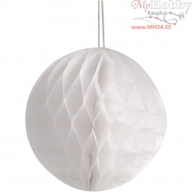 Honeycomb Ornaments, D: 8 cm, white, 10pcs