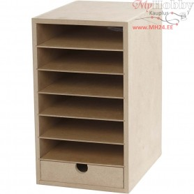 Paper Storage Unit, A5 148x210 mm, depth 24,5 cm, MDF, 1pc