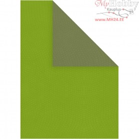 Paper, A4 210x297 mm,  100 g, dark green/lime green, 20sheets