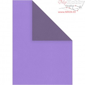 Paper, A4 210x297 mm,  100 g, dark lilac/lilac, 20sheets