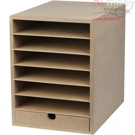 Paper Storage Unit, A4 210x297 mm, depth 32 cm, MDF, 1pc