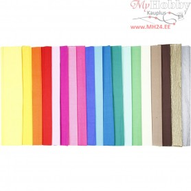 Crepe Paper, W: 50 cm, L: 2,5 m, Folds, 60pleats