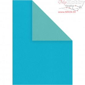 Paper, A4 210x297 mm,  100 g, light turquoise/dark turquoise, 20sheets