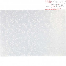 Pearlescent Paper, A4 210x297 mm,  120 g, white - mother-of-pearl, marguerite, 10sheets
