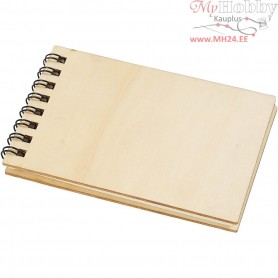 Note Book, size 7,5x11,5 cm, plywood, 1pc