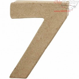 Number, 7, H: 10 cm, thickness 1,7 cm, 1pc, W: 7,4 cm