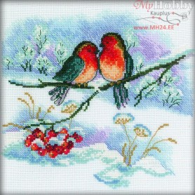 RTO Bullfinch Pair - Counted Cross Stitch Kit, Art: C110