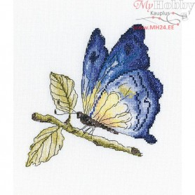 RTO Fragile beauty in blue - Counted Cross Stitch Kit, Art: C175