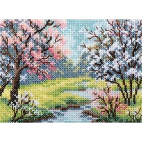RTO Blossoming Spring - Counted Cross Stitch Kit, Art: EH352
