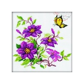 RTO Clematis - Counted Cross Stitch Kit, Art: M145