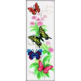 RTO Butterflies and Flowers - Counted Cross Stitch Kit, Art: M146