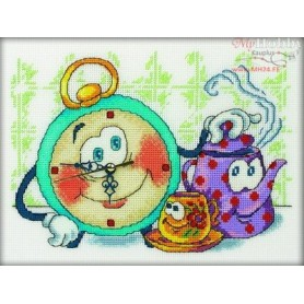 RTO Funny Alarm Clock - Counted Cross Stitch Kit, Art: M40001