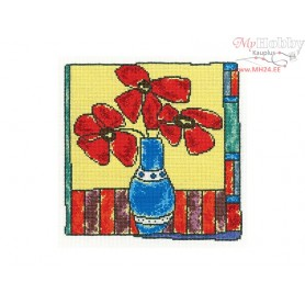 RTO Red flowers - Counted Cross Stitch Kit, Art: M476