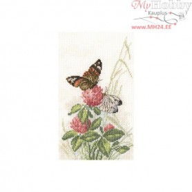 RTO Butterflies on clover - Counted Cross Stitch Kit, Art: M521