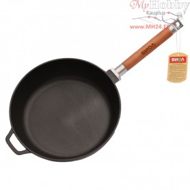 Cast iron frying pan with removable handle (Ø 26 cm depth 6.6 cm)
