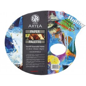 Oval palette paper 25x30, 40 sheets