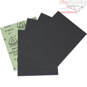 Wet and Dry Sandpaper, sheet 23x28 cm, 400 Grit, 5sheets