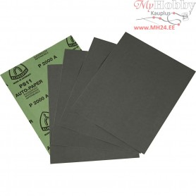 Wet and Dry Sandpaper, sheet 23x28 cm, 2000 Grit, 5sheets