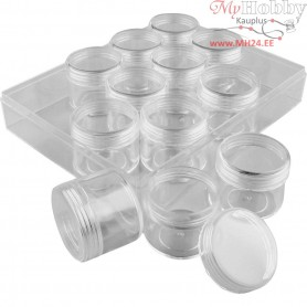 Storage Containers, H: 30 mm, D: 35 mm, 12pcs, 20 ml