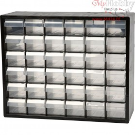 Organiser Cabinet, size 33x40.7x14.1 cm, hole size 60x50 mm, PC 36, 1set