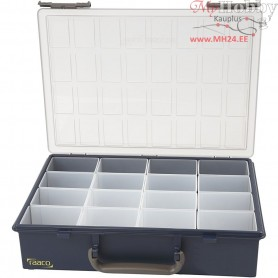 Storage Box, size 33.8x26.1 cm, H: 8 cm, with 16 Removable Insert Boxes, 1set, hole size 5.5x7.9x8 cm