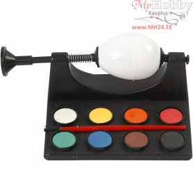 Egg Painter, L: 16.5 cm, black, 1set