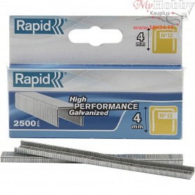 Staples, H: 4 mm, size 13 , matt, 2500pcs