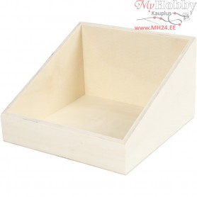 Display box, W: 19.5 cm, H: 12 (4) cm, plywood, 1pc, depth 19.5 cm