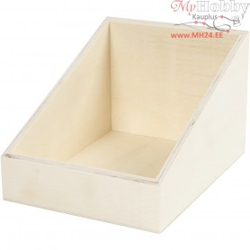 Display box, W: 15 cm, H: 12 (4) cm, plywood, 1pc, depth 19.5 cm