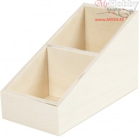 Display box, W: 10 cm, H: 12 (4) cm, plywood, 1pc, depth 19.5 cm
