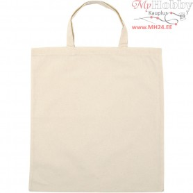 Shopping Bag, size 38x42 cm,  135 g/m2, light natural, 5pcs
