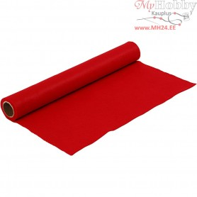 Craft Felt, W: 45 cm, thickness 1,5 mm, red, 1m, 180-200 g/m2