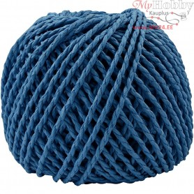 Paper Yarn, thickness 2,5-3 mm, approx. 42 m, dark blue, 150g