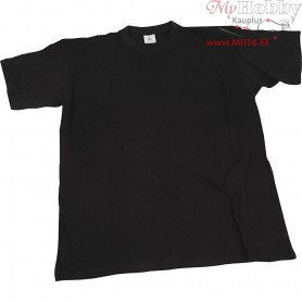 T-shirt, size small , W: 48 cm, black, round neck, 1pc