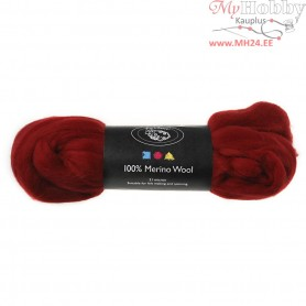 Merino Wool,  21 micron, dark red, South Africa, 100g
